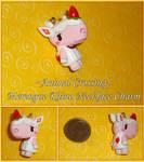 Animal Crossing - Merengue Rhino Charm - Handmade