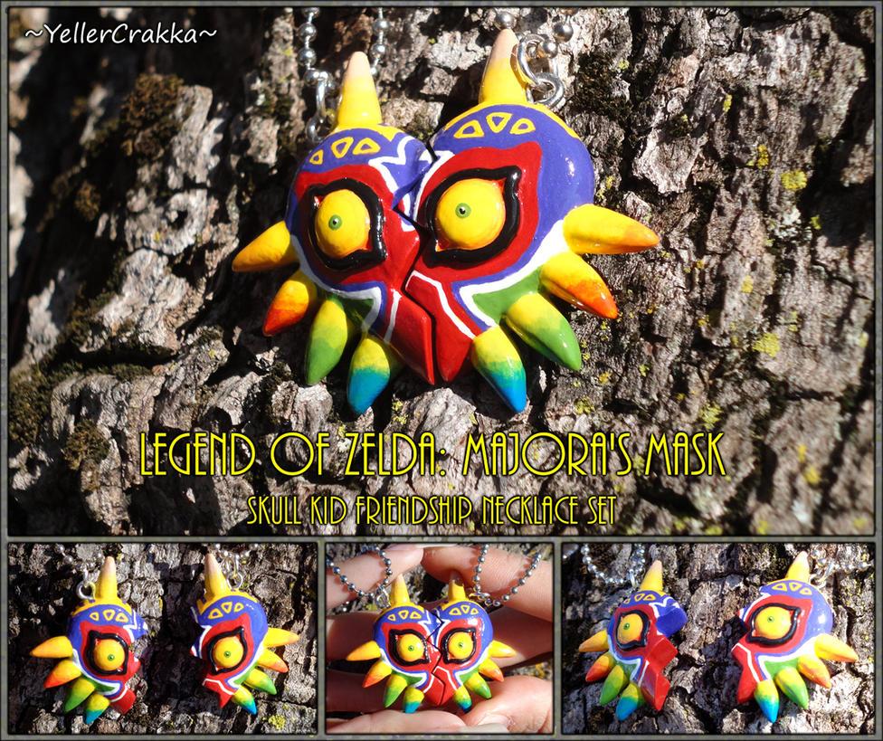 Zelda Majora's Mask Skull Kid Friendship Necklace by YellerCrakka