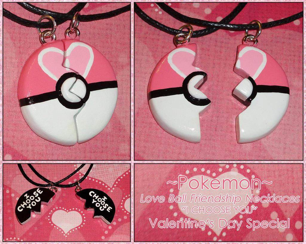 Pokemon Love Ball Friendship Necklace I