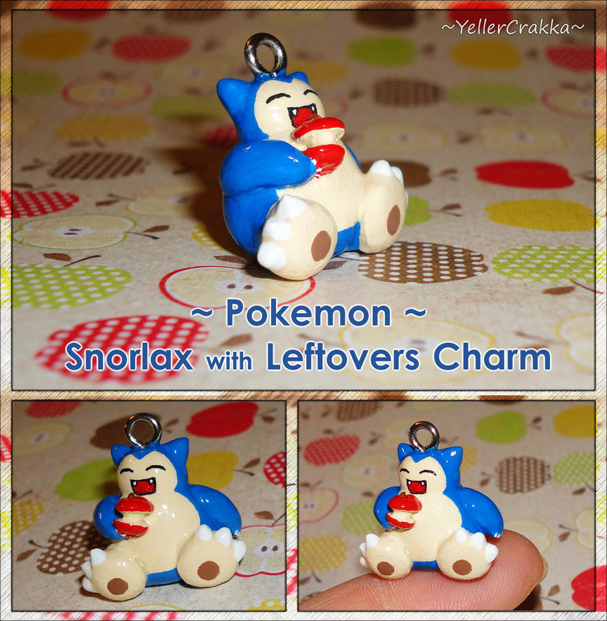 Pokemon - Snorlax with Leftovers Necklace Charm by YellerCrakka