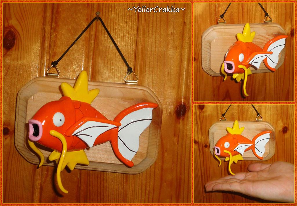 Pokemon Magikarp Mounted Trophy Fish Wall Art By