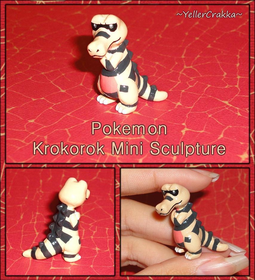 Pokemon - Krokorok Mini Sculpture - Handmade by YellerCrakka