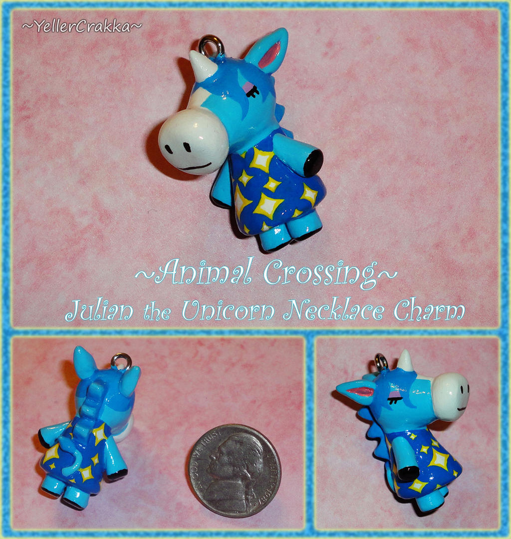 Animal Crossing - Julian the Unicorn Charm - ACNL by YellerCrakka