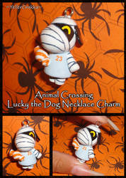 Animal Crossing - Lucky the Dog Charm with Candy by YellerCrakka