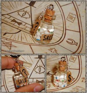 Gravity Falls - Jar of Eyes - Mystery Shack Charm