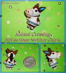 Animal Crossing - Papi the Horse Necklace Charm by YellerCrakka