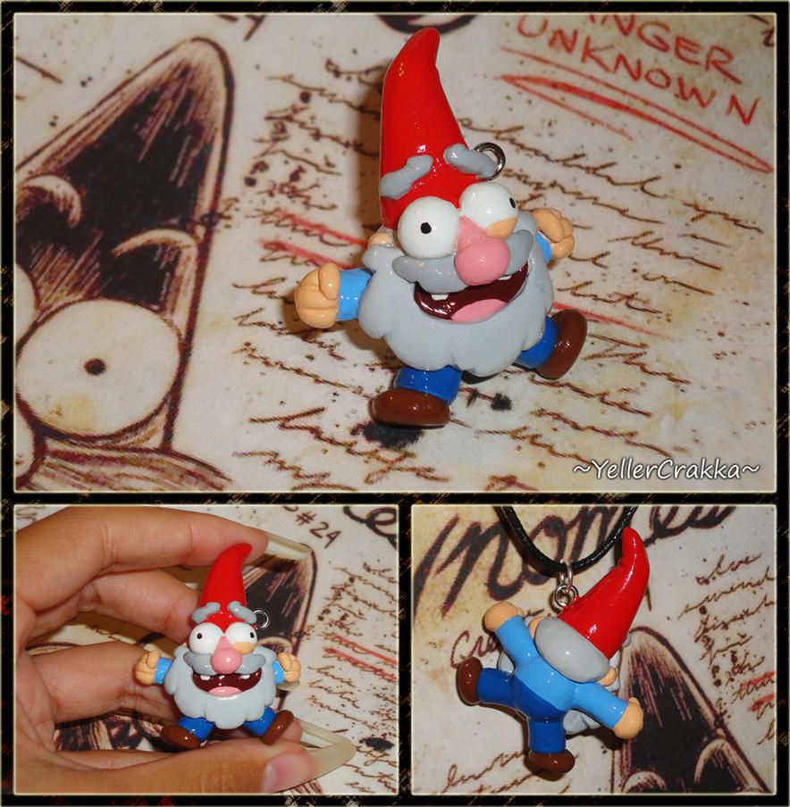 Gravity Falls - Shmebulock Gnome Charm Necklace by YellerCrakka