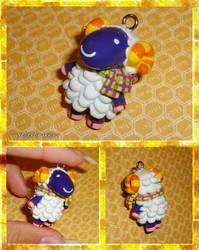 Animal Crossing - Vesta the Sheep Necklace Charm by YellerCrakka