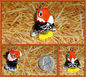 Animal Crossing - Amelia Eagle Necklace Charm by YellerCrakka