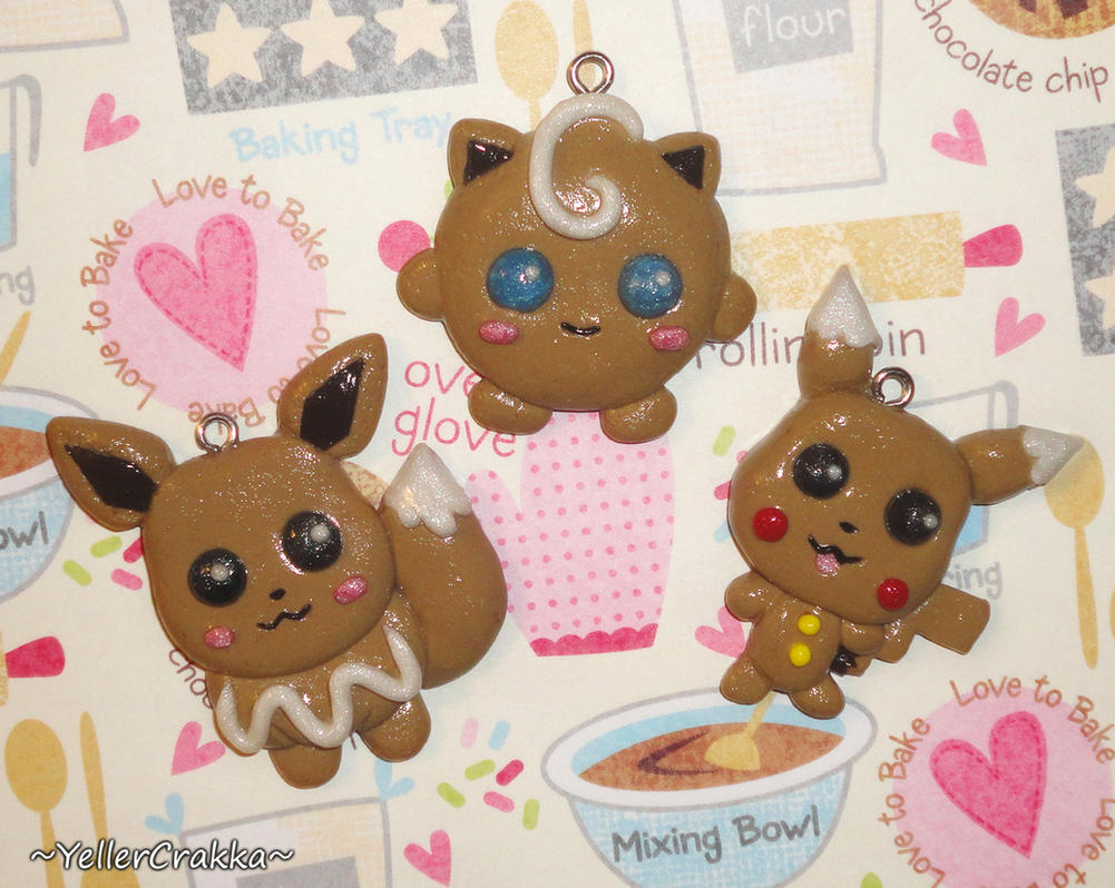 Pokemon - Gingerbread Cookie Charms - Christmas by ...