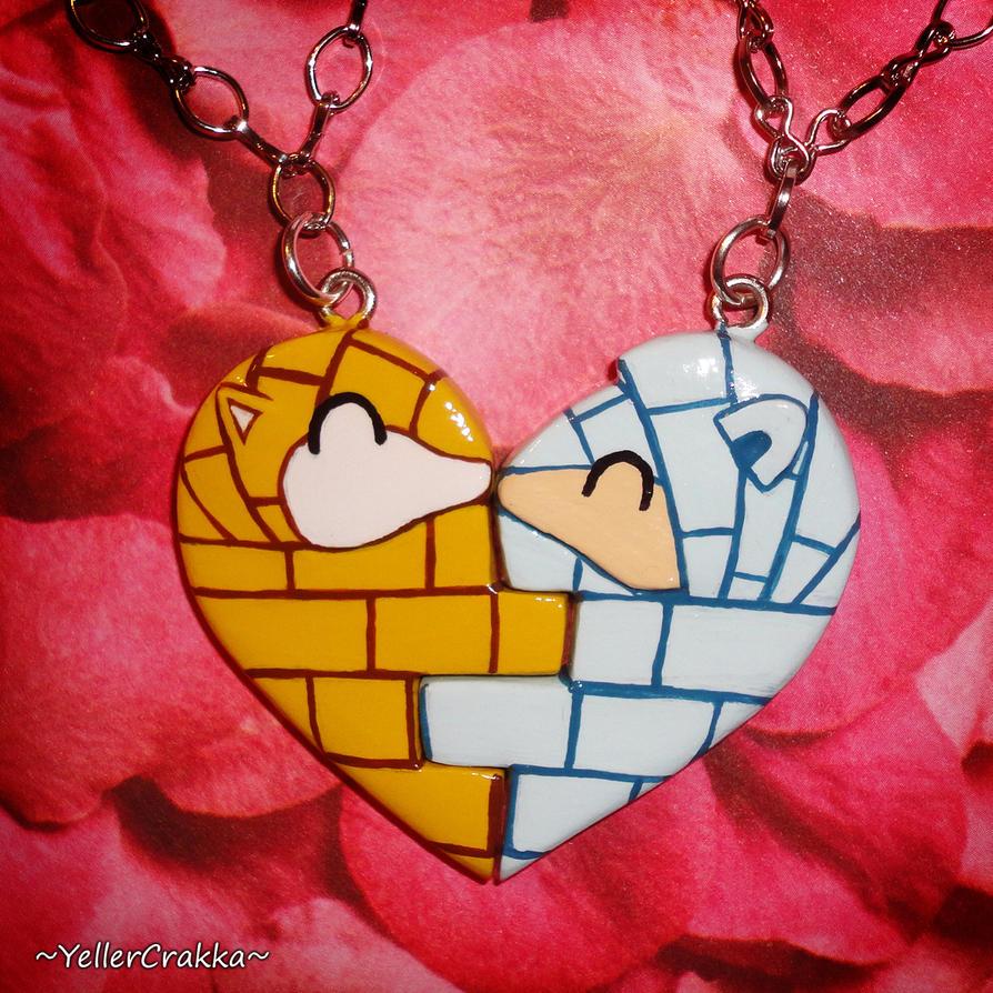 Pokemon Kanto and Alolan Sandshrew Heart Necklaces by YellerCrakka