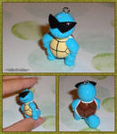 Pokemon - Squirtle Squad Leader Necklace Charm