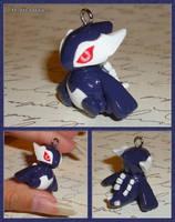 Pokemon - Shadow Lugia Pokedoll Necklace Charm by YellerCrakka
