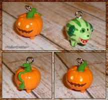 Steven Universe - Pumpkin Pup and Melon Mutt Charm by YellerCrakka