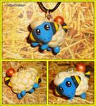 Pokemon - Mareep Charm Necklace