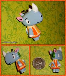 Animal Crossing - Tank the Rhino Custom Charm by YellerCrakka
