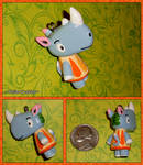 Animal Crossing - Tank the Rhino Custom Charm by YellerCrakka