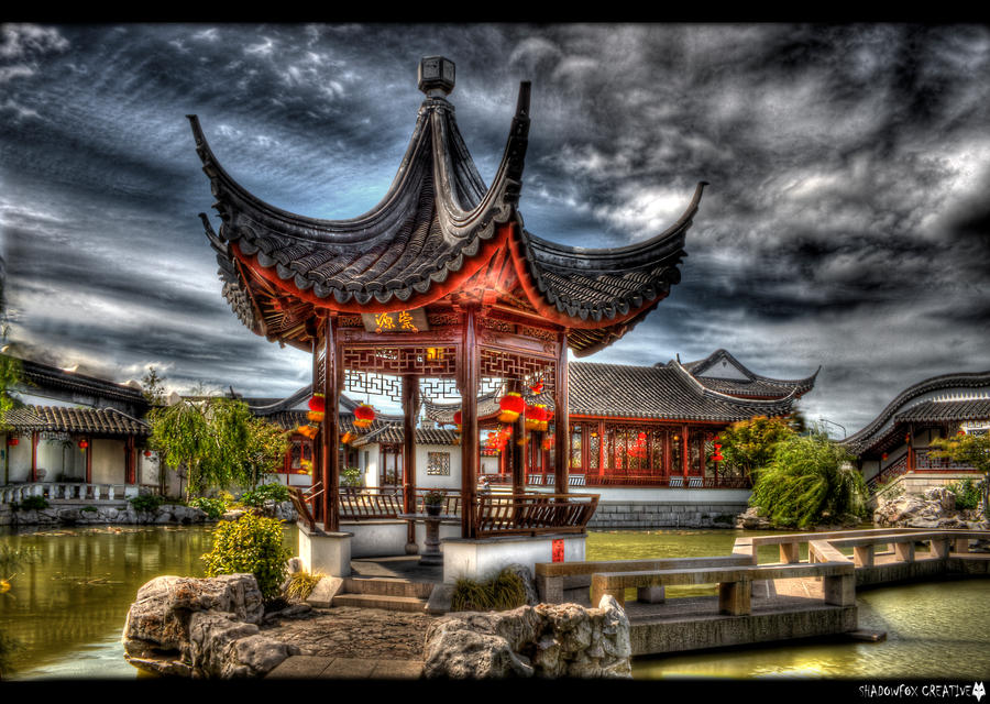 Chinese Garden 2 by shadowfoxcreative