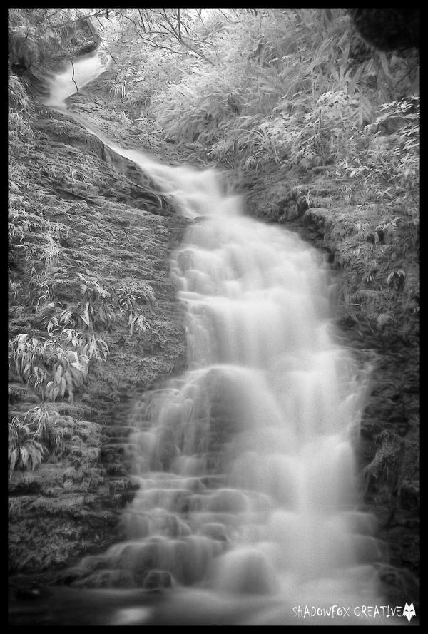 School creek falls IR by shadowfoxcreative