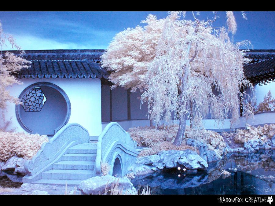 Chinese Garden IR 2 by shadowfoxcreative