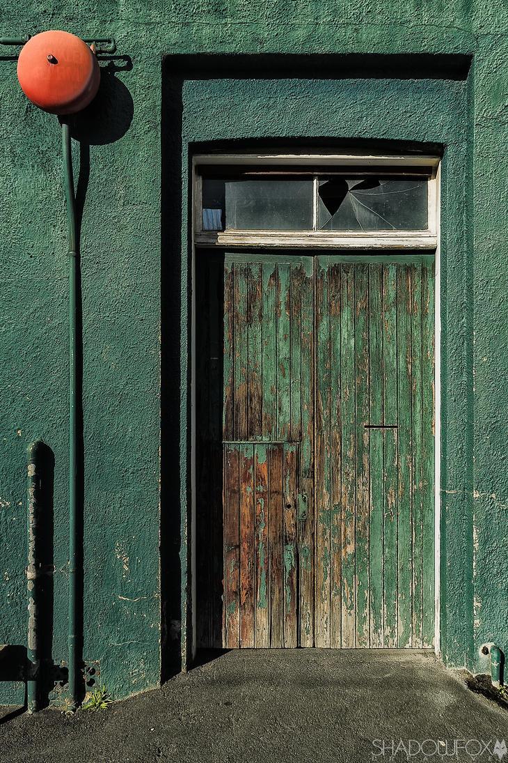 Green door by shadowfoxcreative