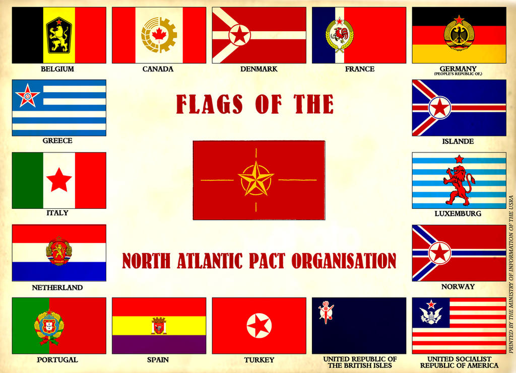 Flags Of The North Atlantic Pact Organisation By Marcpasquin On - north flags