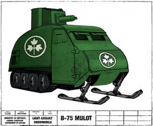B75 mulot light assault snowmobile