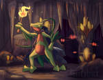 Gideon the Grovyle | Commission by Ppoint555