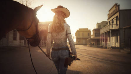 [DAZ3D] - Cowgirl by PSK-Photo