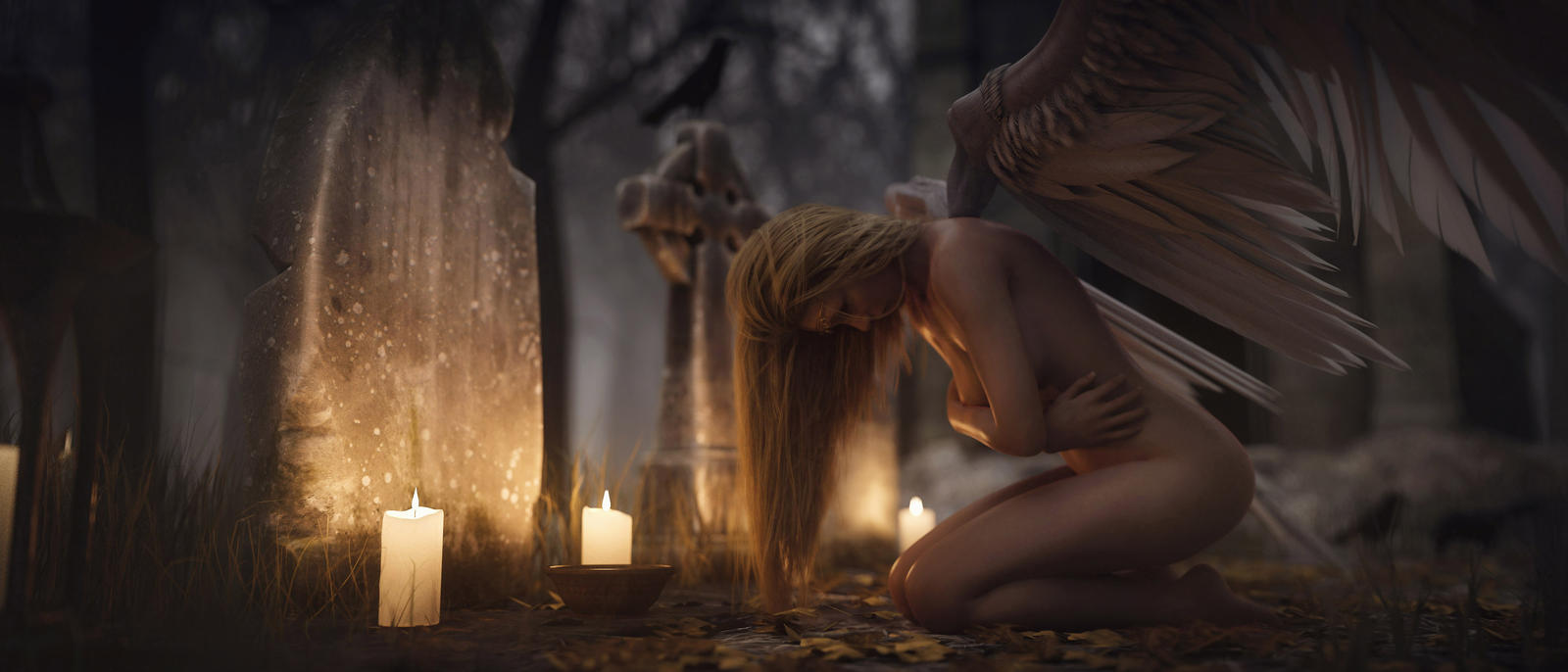 [DAZ3D] - When She Cries by PSK-Photo