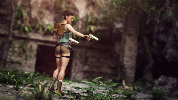 [DAZ3D] -  Early Days - Lara Croft