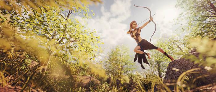 [DAZ3D] - Jumping Archer