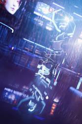[DAZ3D] - Cyberpunk Umbrella