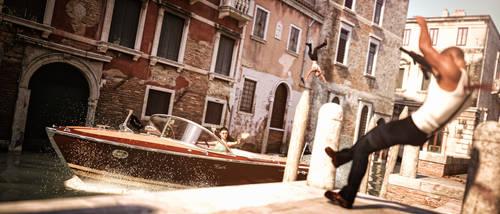 [DAZ3D] - Tomb Raider - Race through Venice Fanart