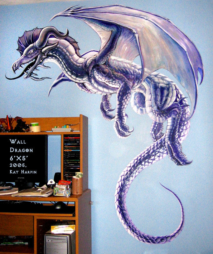 Dragon mural by relotixke on deviantart for Dragon mural for wall