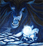 Fenrir and the Moon