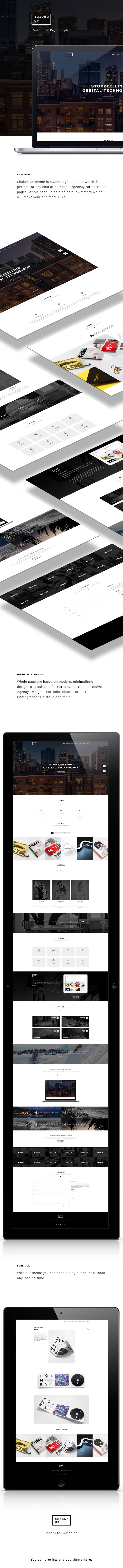 Shaken-UP - Multi Purpose One Page Template by GuffQa