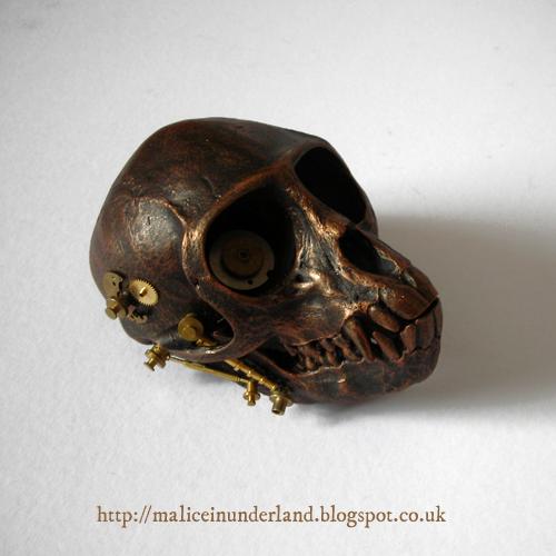 Steampunk skull 3 by aurora-boredomalis