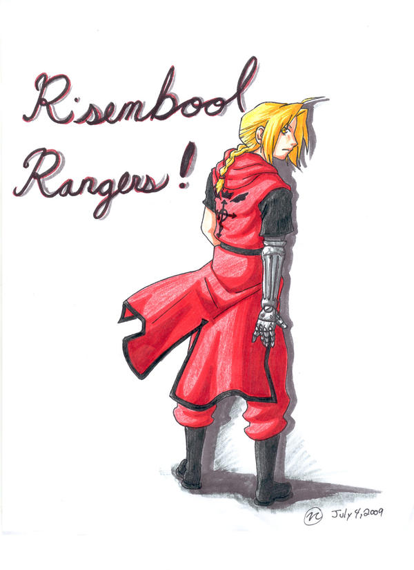 Edward Elric in rangers garb by creativegoth18