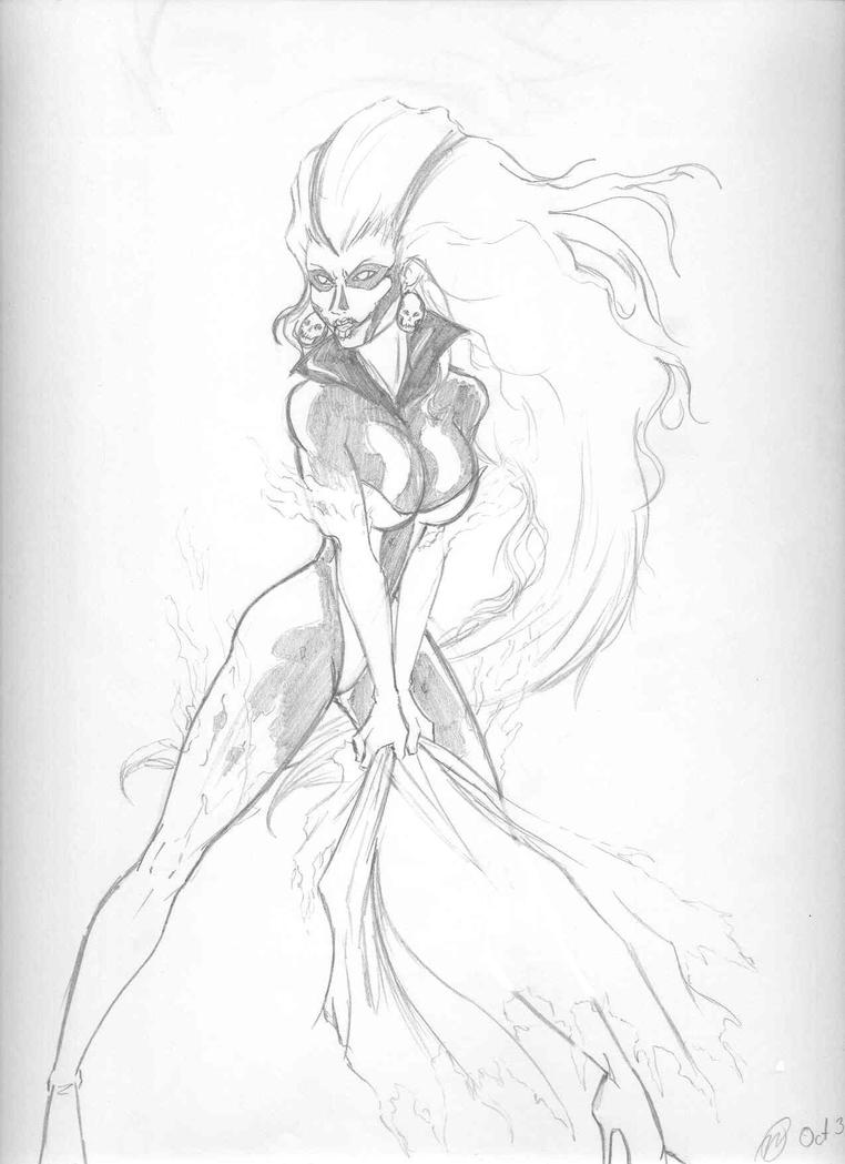 Silver Banshee Sketch by creativegoth18