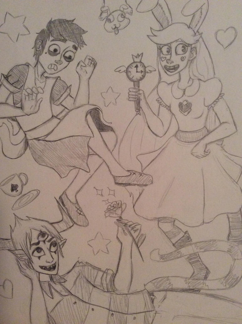 Svtfoe: In Wonderland Sketch by VoltaicCreations