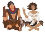 Prince of Persia - Prince and Elika Waving