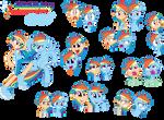 Rainbow Dash - Pony/ Human