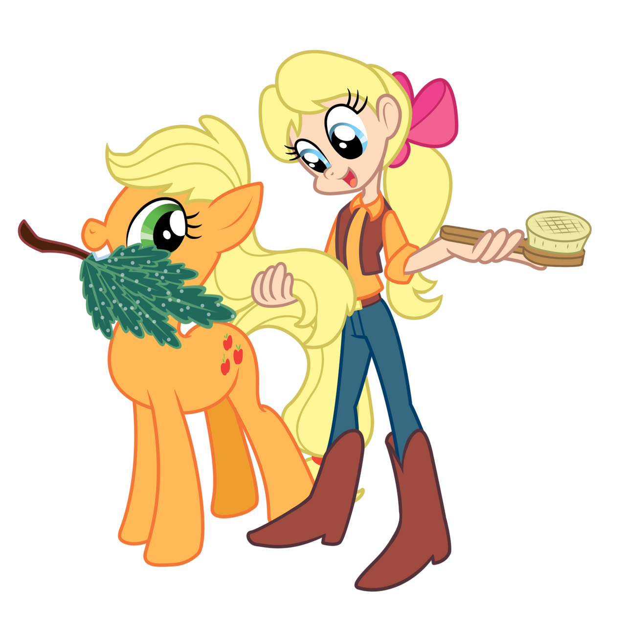[Obrázek: my_little_pony___applejack_and_megan_by_...5nnd8x.png]