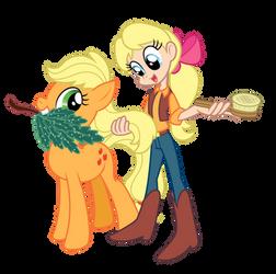 My Little Pony - Applejack and Megan by Trinityinyang