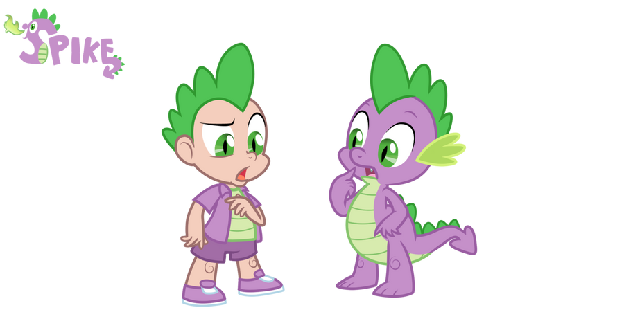 Spike - Dragon/ Human by Trinityinyang