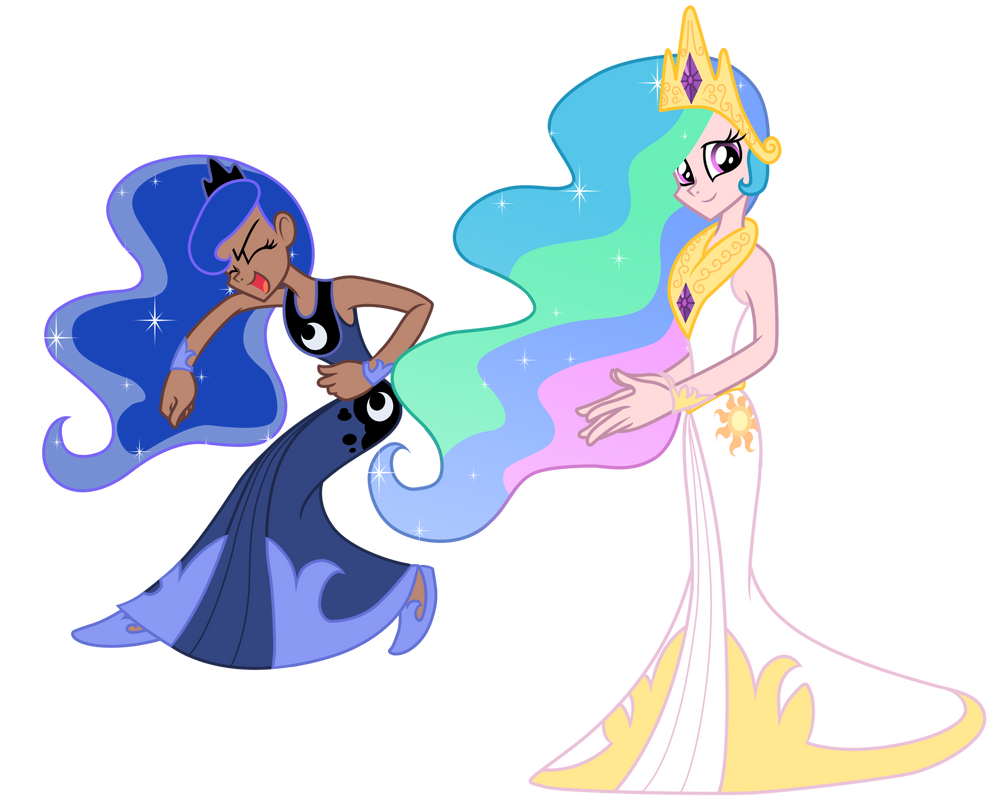 Love Is In Bloom: Celestia and Luna by Trinityinyang