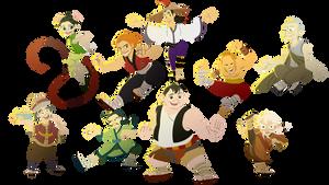 Kung Fu Panda - Furious Five and Masters (Human)