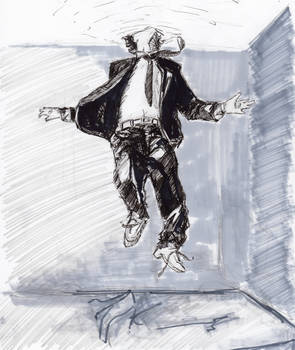 [Inktober 02] Man in the ceiling ( b )