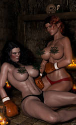 Secrets of Sorceresses (Topless, Plausibly) by IsiyAzza